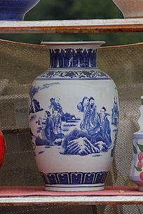 彩绘八仙过海花瓶