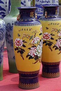 黄色大花瓶
