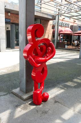 街头现代雕塑音乐符号