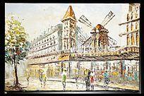 欧式建筑风景油画
