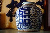 双喜青花陶瓷