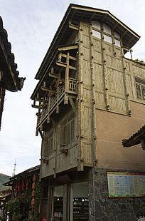 半墙半木建筑
