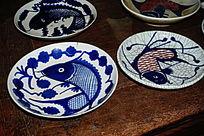 青花陶瓷盘子