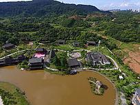 航拍广西民族村