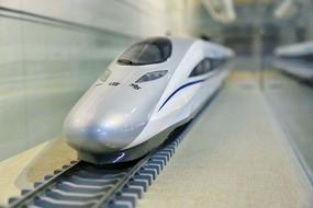 动车机车和谐号火车模型