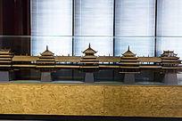 广西程阳桥建筑模型