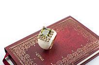 宝典书籍复古戒指