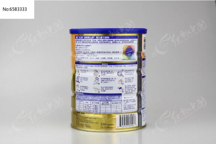 惠氏金装1段900g大听奶粉侧面图片