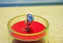 清代白金镶钻石戒指