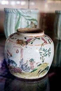 山水陶瓷坛子
