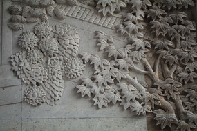 夫子廟內植物磚雕