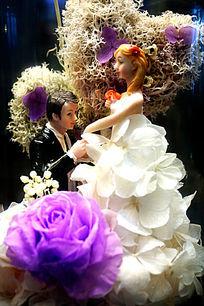 花卉结婚公仔