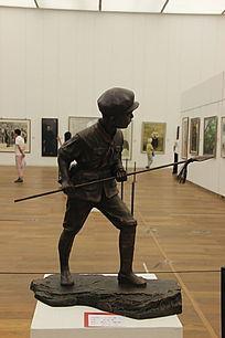 小红军雕塑