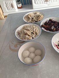 中国传统美食-饺子汤圆