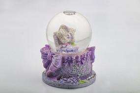 紫色海星雪花玻璃球