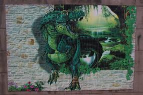 恐龙墙体彩绘
