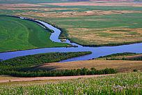 草原河湾风景