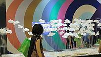 上海展会艺术纸花展示