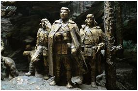 东北抗日英雄雕塑