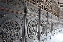 福字木雕家具装饰-圆形木雕