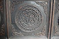 古典福字-圆形木雕