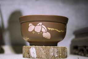 莲花紫砂小茶杯