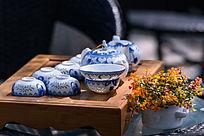 青花瓷茶具