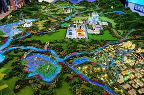 山水宜居城市楼盘模型