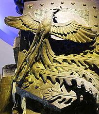 铜雕凤凰图案