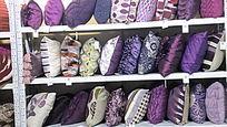 国际家纺展会靠垫细节橱窗陈列图片