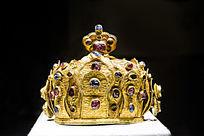 金镶红蓝宝石冠