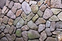 石砌墙背景图片