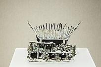 西汉铜房子模型扣饰