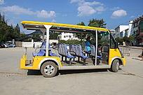 阿庐古洞风景区的游览观光车