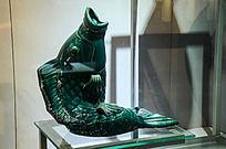 华宁釉陶绿釉大鱼