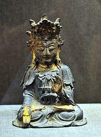 明代铜镀金观音菩萨像