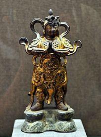 明代铜韦驮像