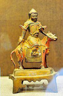 清代铜关公像