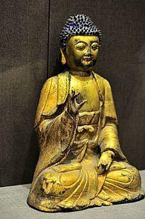 清代铜释迦牟尼佛像