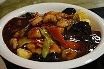 中国菜木耳虾仁豆腐
