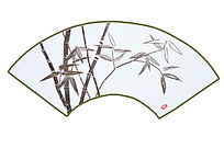 竹子艺术扇面
