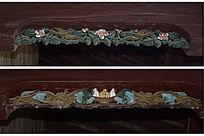 彩色镂空木雕-边角雕刻装饰