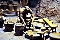 古代陶瓷烧制拉坯