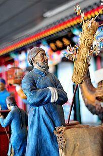 老北京卖大风车的商贩