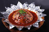 香煎贡芋摄影图片