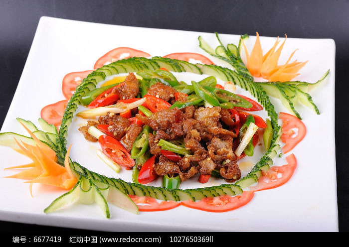 小炒肉摄影图片