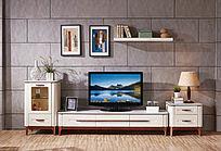 现代电视柜背景墙