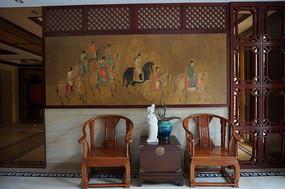 中国风楼梯厅装饰样板