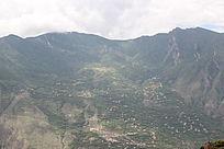丹巴梭坡自然风景背景