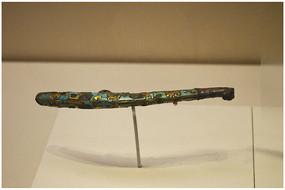 汉代时期绿松石鎏金饰件